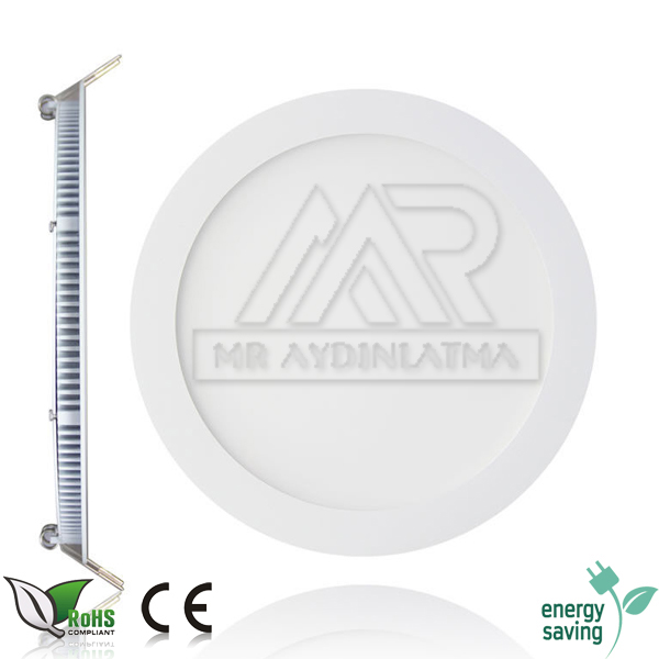 12/24 Volt 9 Watt Sıva Altı Led Panel