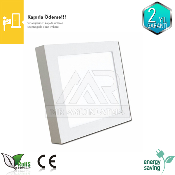24 watt Kare Sıva Üstü Led Panel