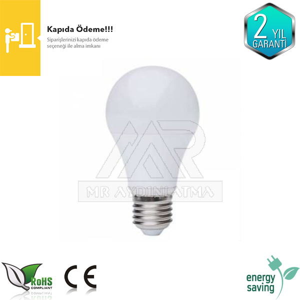 E27 duylu 9 watt led ampul
